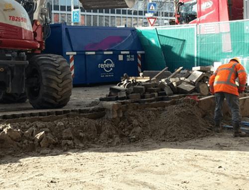 Afgraven zand voor hergebruik in Rotterdam