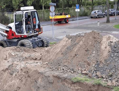 Zoektocht naar oude fundatiepalen langs de Patersweg in Dordrecht