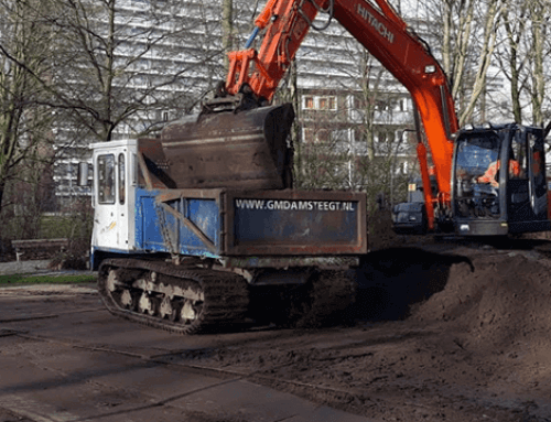 Het rooien van bosschages tegen ongedierte in Rotterdam