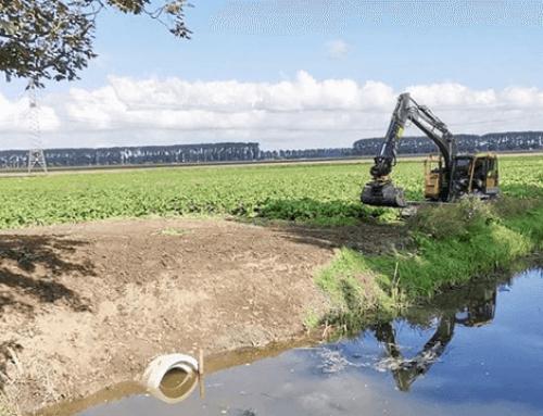 Nieuwe verbinding tussen 2 sloten in de Dordtse Biesbosch