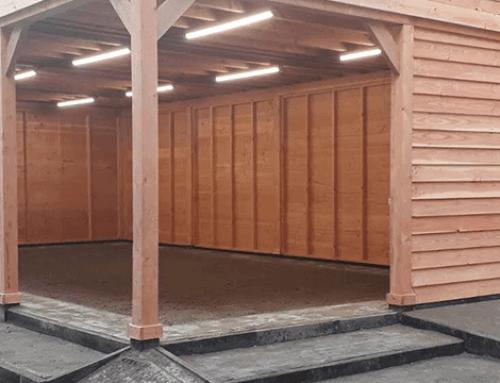 Houten Douglas overkapping mét groen dak voor Zadkine College Rotterdam | Deel 2