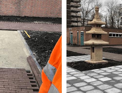 Tuinontwerp Joliottoren Rotterdam | Aanlegfase 2