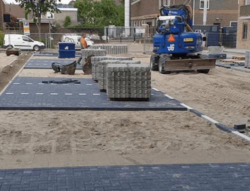 Aanleg parkeerplaats wooncomplex 'Koningshof' te Zwijndrecht